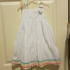4t white summer dress